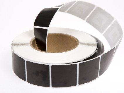 Ochranná samolepka 4x4 cm, 8,2 MHz, černá, deaktivovatelná
