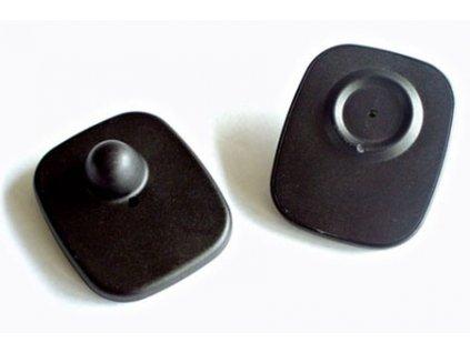 Pevná etiketa 8,2 Mhz - Minisquare, černá, super lock
