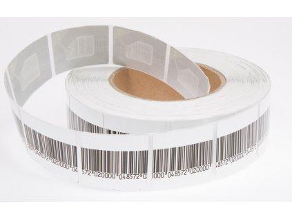 Ochranná samolepka 4x4 cm Epow 8,2 Mhz, barcode,deaktivovatelná, frozen