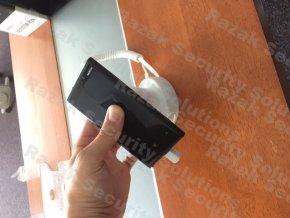 Stojna pro zabezpečení mobilního telefonu s krčkem