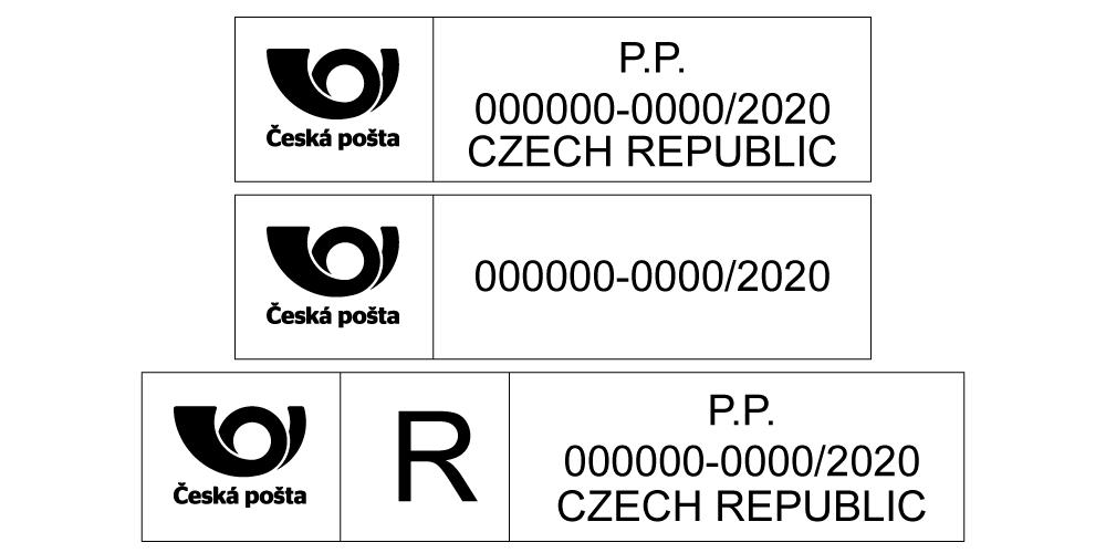 Označení zásilek pro Českou Poštu