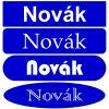 Jmenovka na dveře - gravírovaný plast (Barva desky ŽLUTÁ DESKA / ČERNÉ GRAVÍROVÁNÍ, Tvar OVÁL, Typ fontu ARIAL)