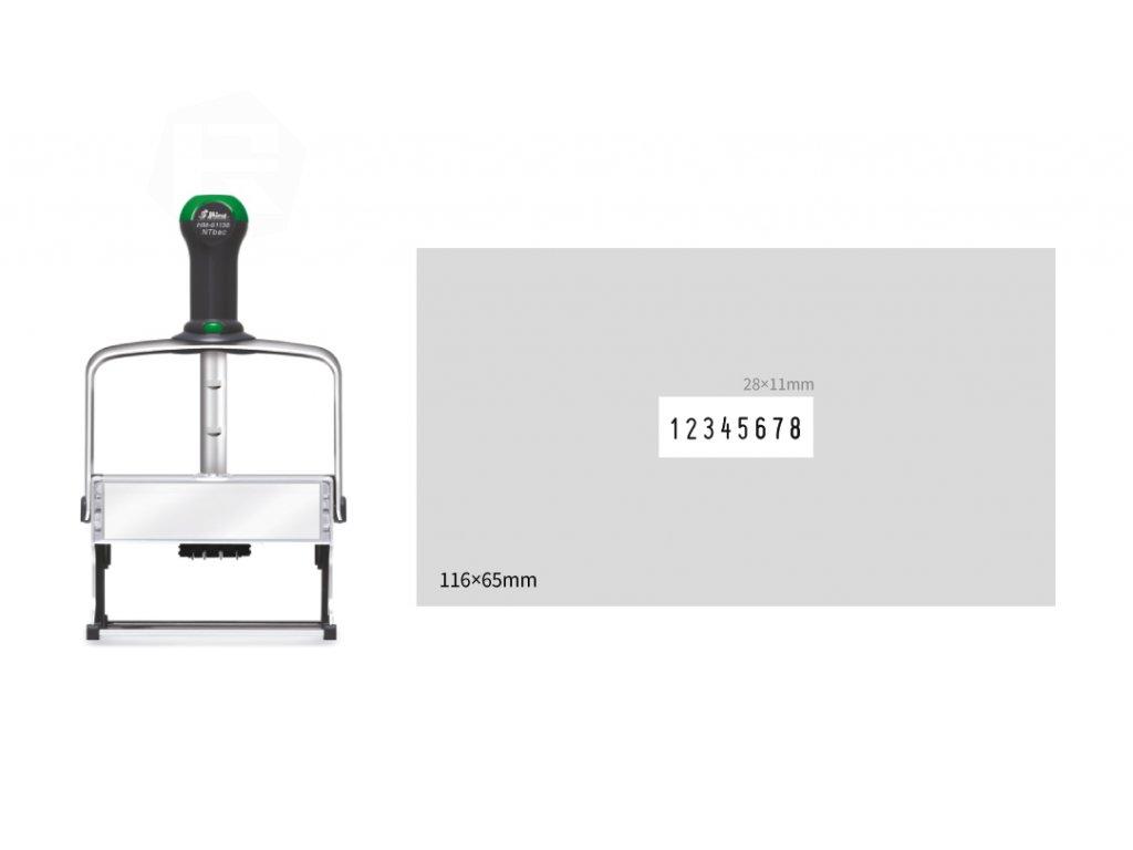 razitko shiny stamp cislovaci hm 61158 eco antibac kovove s textem nahled