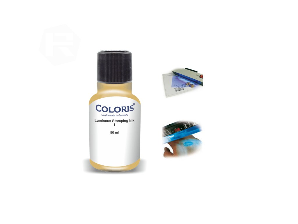 barva coloris stamp luminous ink i nahled