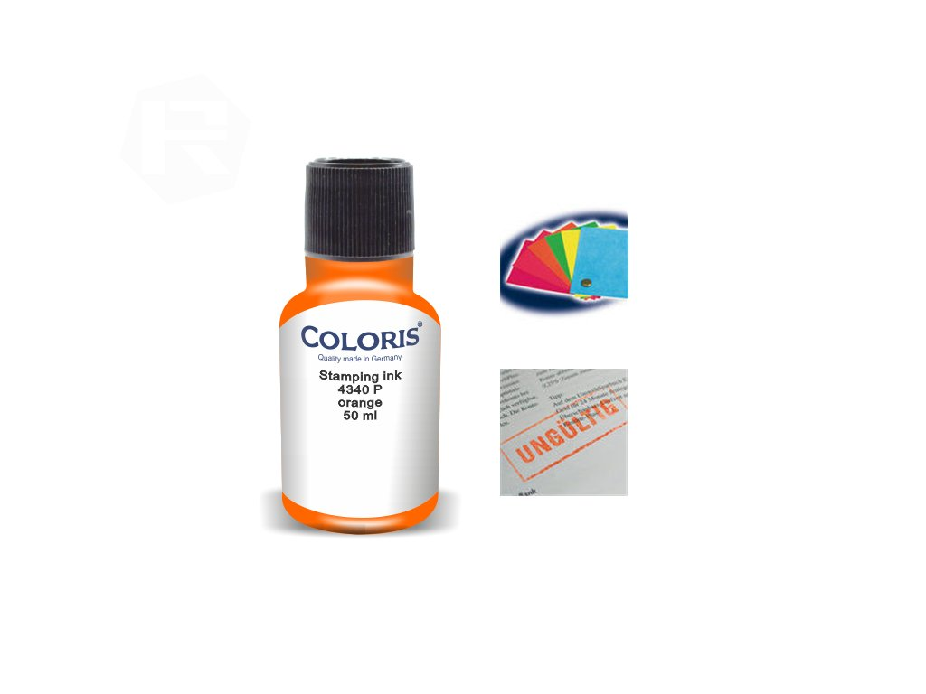 barva coloris stamp 4340 p 50 ml oranzova nahled