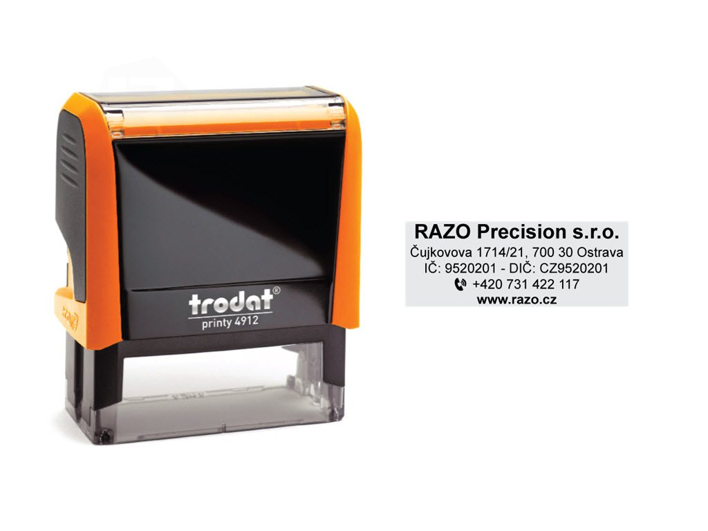 razitko stamp trodat printy 4912 neon oranzova firemni nahled