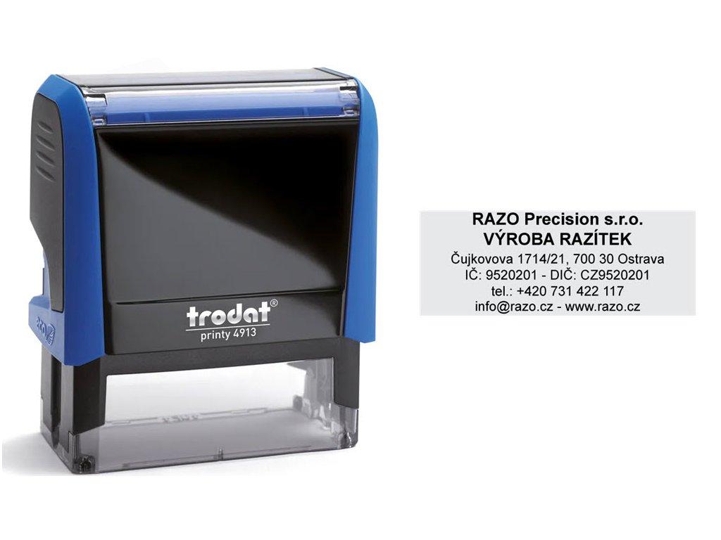 razitko stamp trodat printy 4913 modra firemni nahled