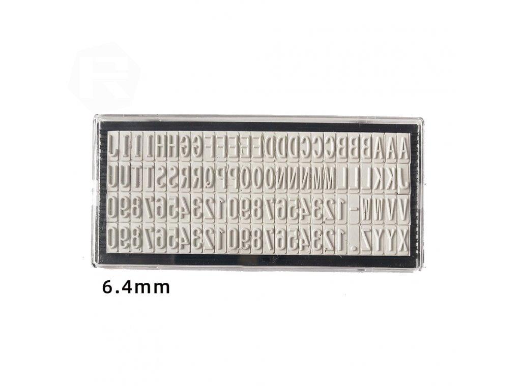 nahradni pismena stamp sada znaku 6 4 mm