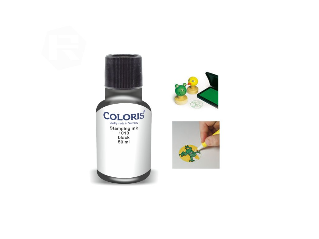 barva coloris stamp 1013 50 ml cerna nahled