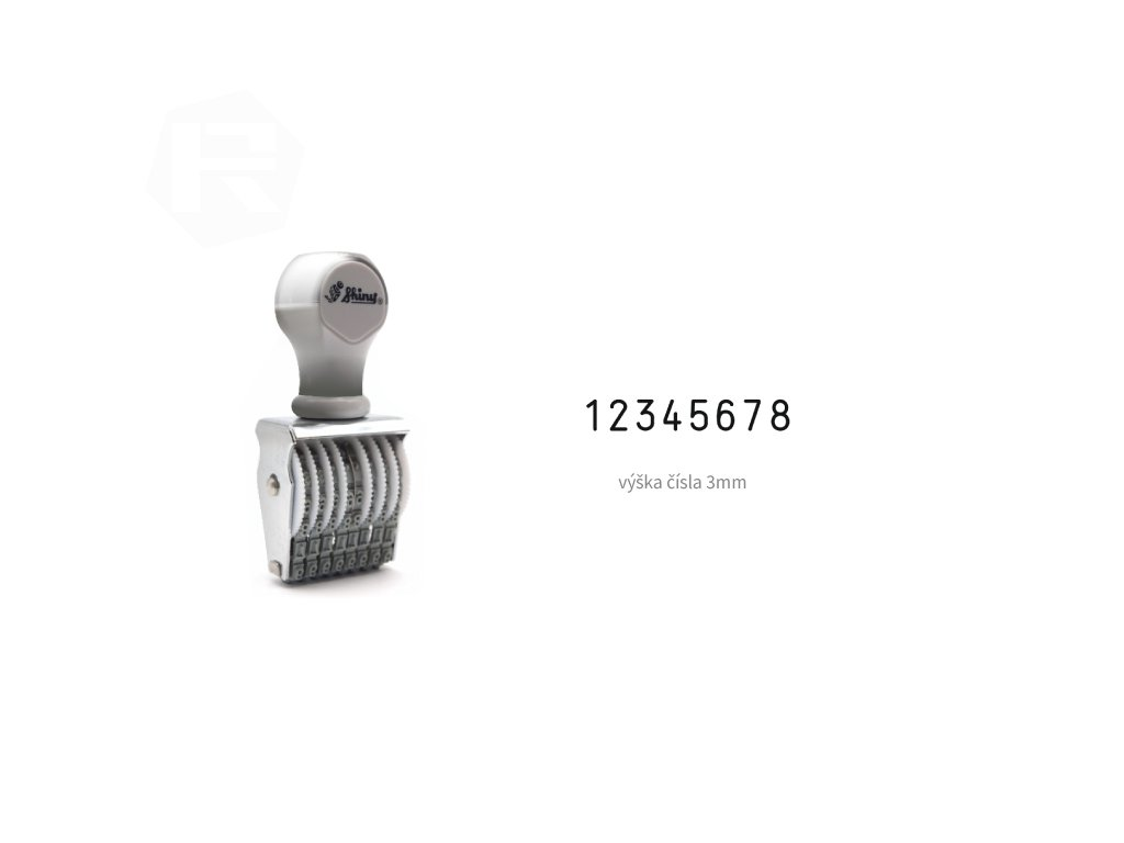 razitko shiny stamp office n 58 cislovaci 3 mm nahled
