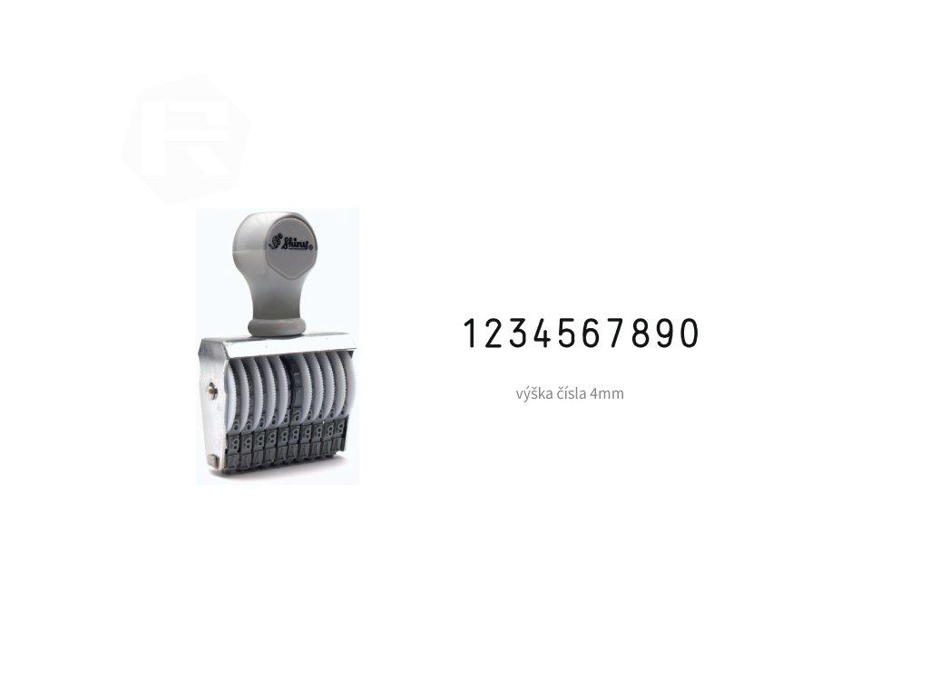 razitko shiny stamp office n 410 cislovaci 4 mm nahled