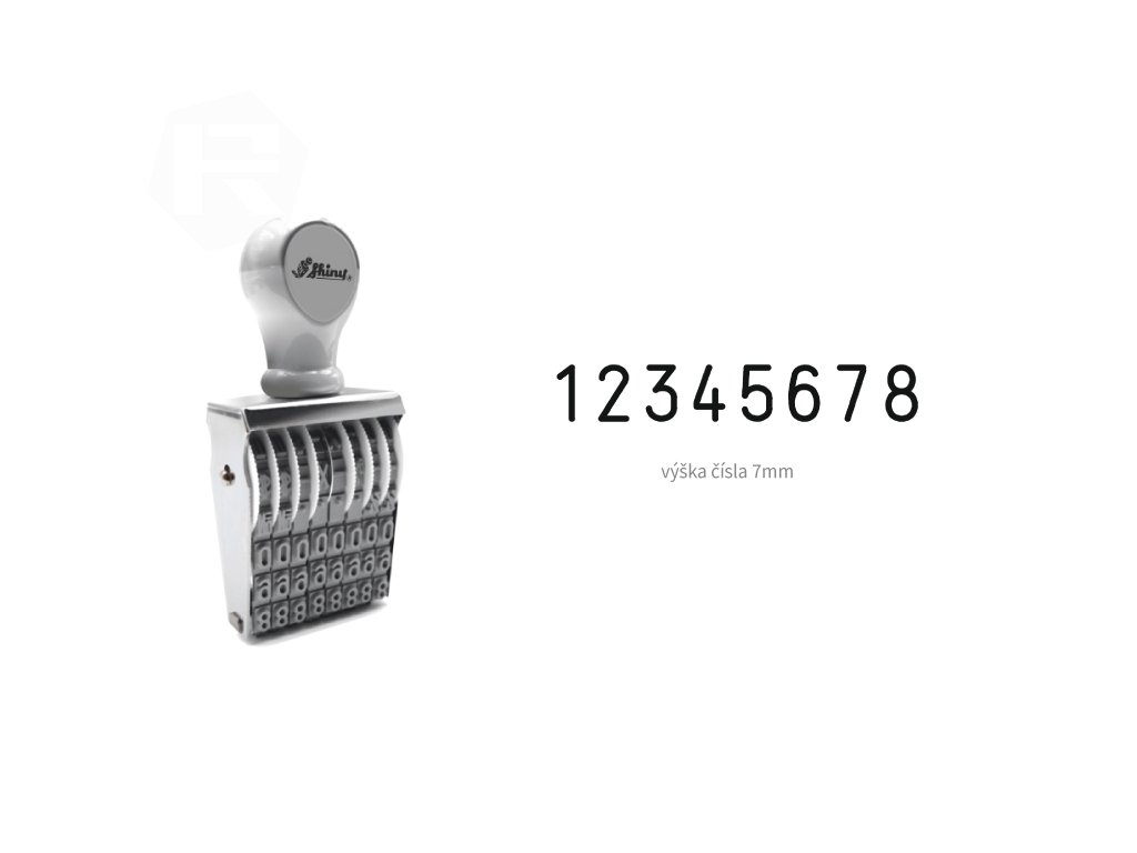razitko shiny stamp office n 28 cislovaci 7 mm nahled
