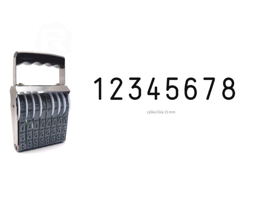 razitko shiny stamp office n a8 cislovaci 15 mm nahled