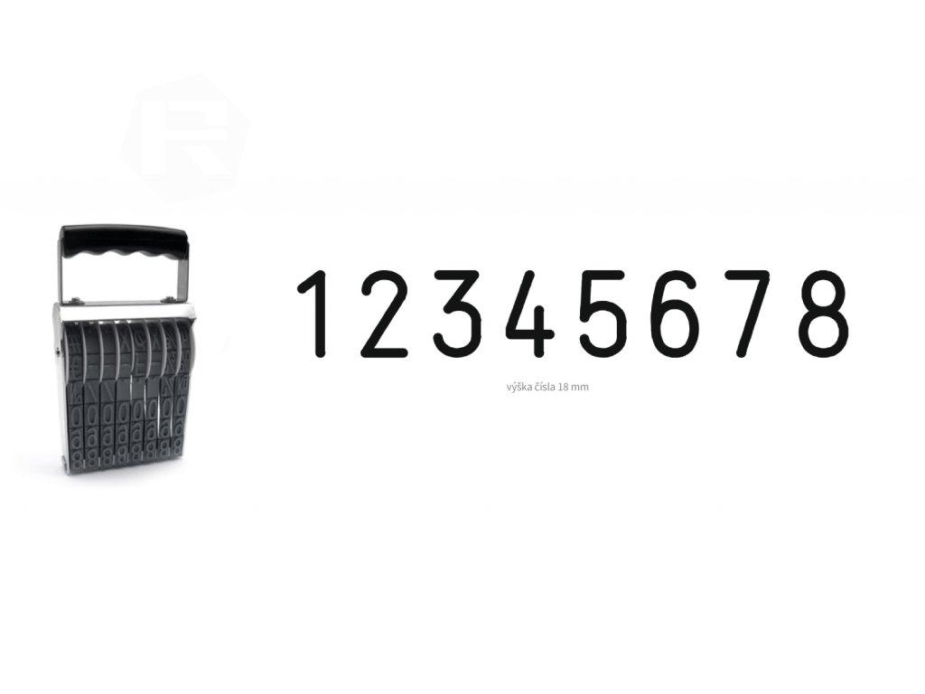 razitko shiny stamp office n b8 cislovaci 18 mm nahled
