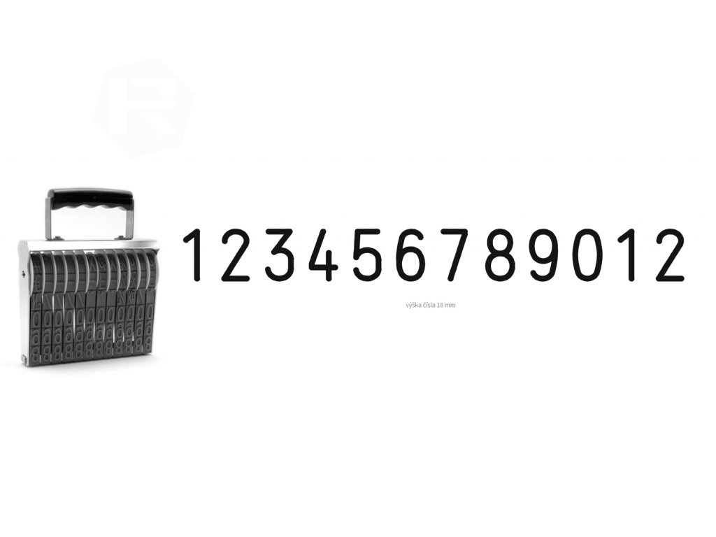 razitko shiny stamp office n b12 cislovaci 18 mm nahled
