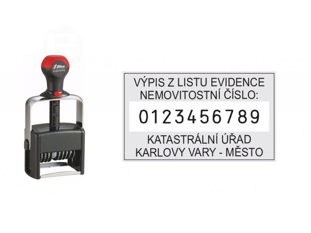 razitko shiny stamp kovove h 6510 pl cislovaci s textem nahled