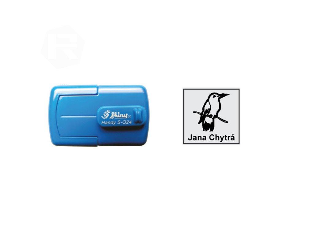 razitko shiny stamp kapesni s q24 stredni mobilni modre nahled
