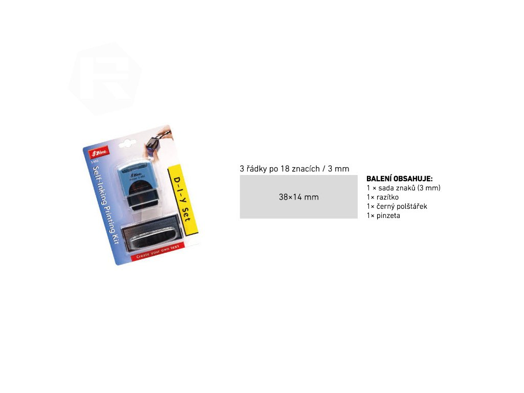 razitko shiny stamp stredni s 882 modre sestavovaci nahled