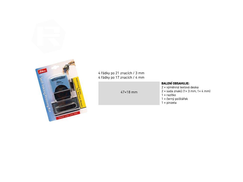 razitko shiny stamp stredni s 883 modre sestavovaci nahled