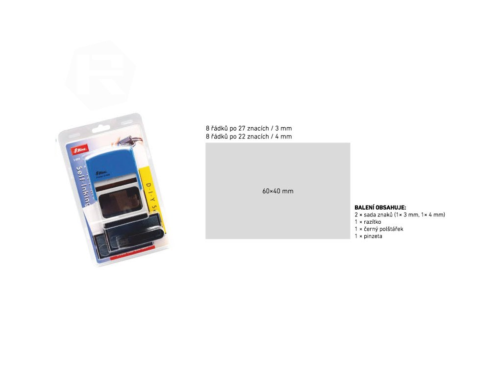 razitko shiny stamp velke s 889 modre sestavovaci nahled
