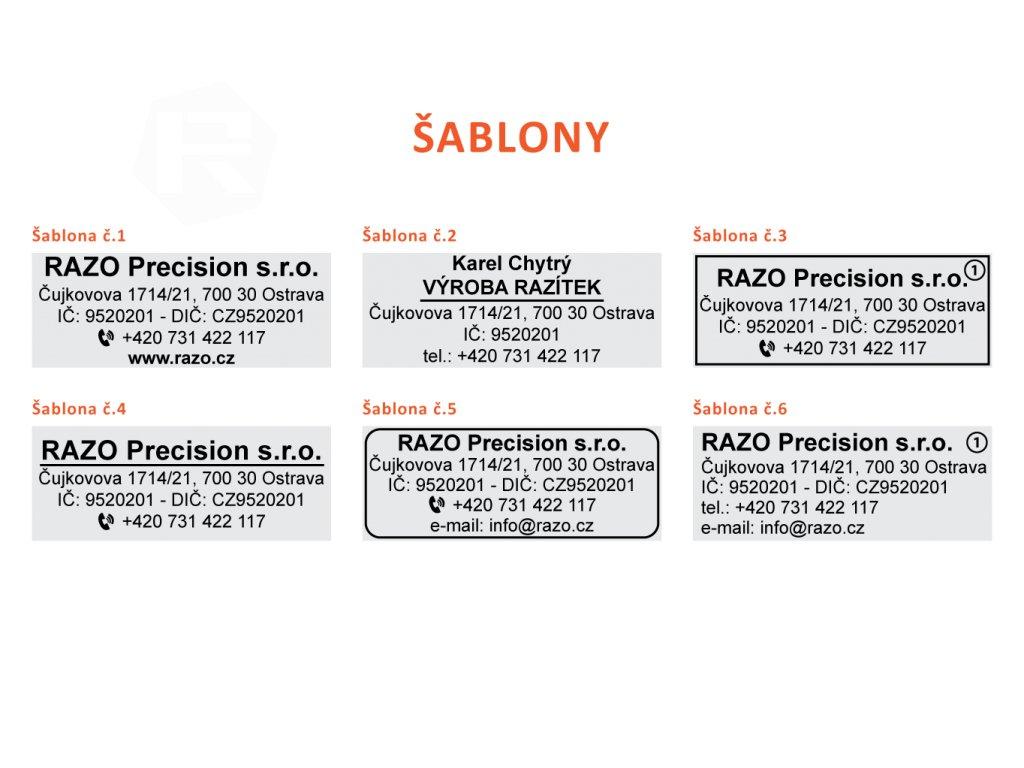 47x18mm sablony razitek