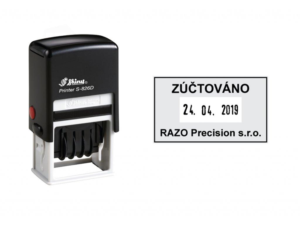 razitko shiny stamp datumove s 826d printer line s textem nahled