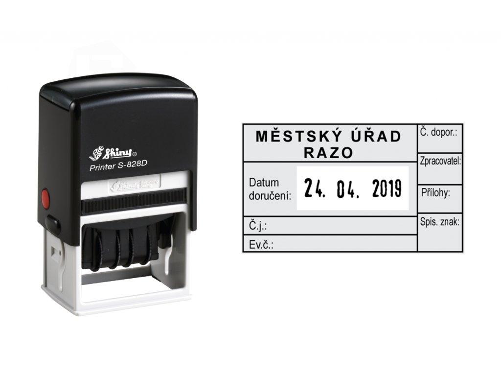 razitko shiny stamp datumove s 828d printer line s textem nahled