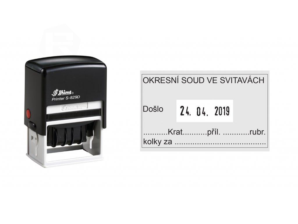 razitko shiny stamp datumove s 829d printer line s textem nahled