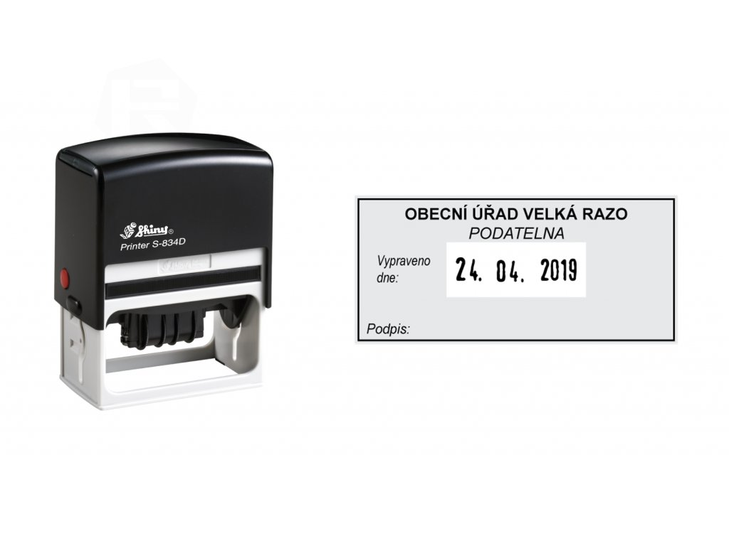 razitko shiny stamp datumove s 834d printer line s textem nahled