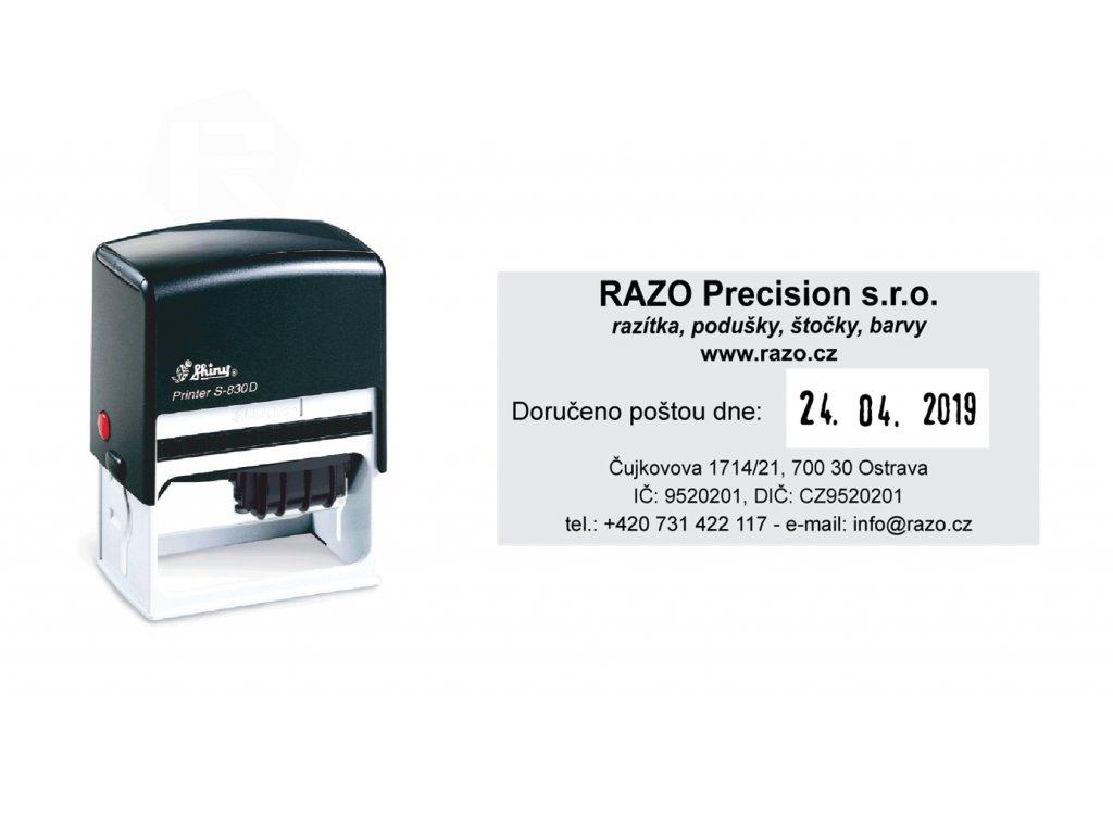 razitko shiny stamp datumove s 830dr printer line s textem nahled