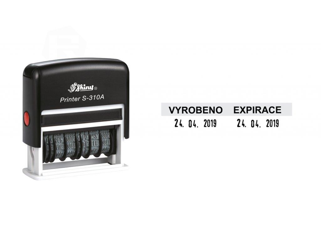 razitko shiny stamp dvojdatumove s 310a printer line s textem nahled