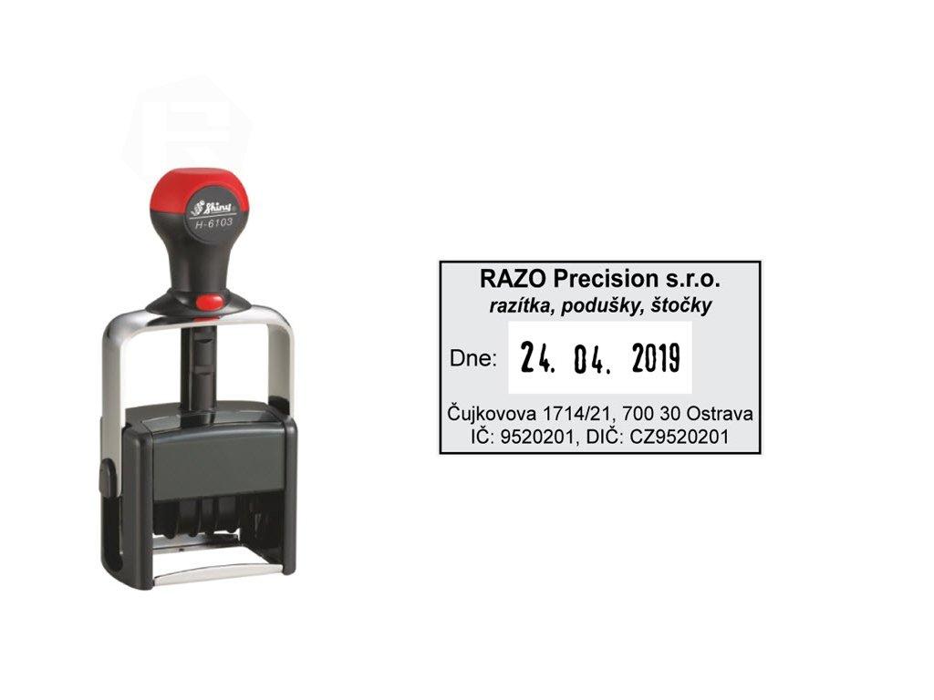 razitko shiny stamp datumove kovove h 6103 heavy duty s textem nahled