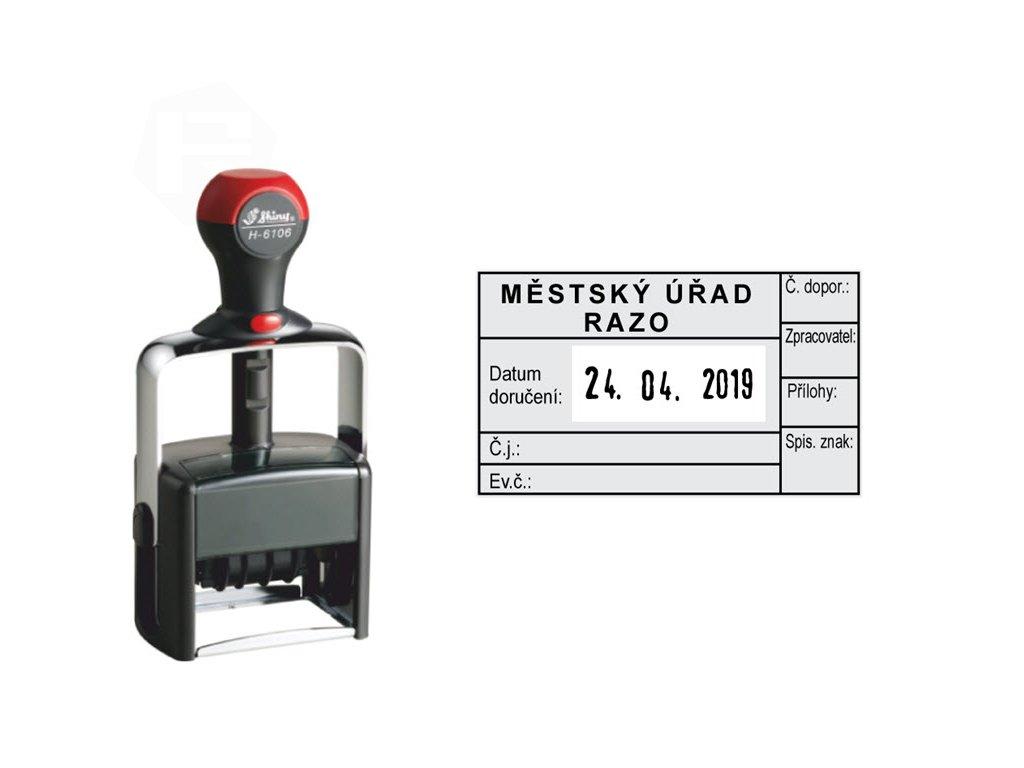 razitko shiny stamp datumove kovove h 6106 heavy duty s textem nahled