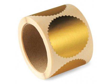 hvezdicky gold label samolepici 250ks zlate