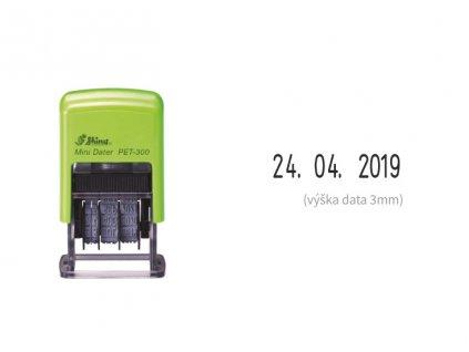 razitko shiny stamp male datumove pet 300 eco 3 mm nahled