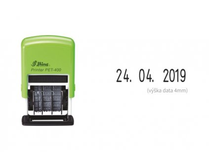razitko shiny stamp stredni datumove pet 400 eco 4 mm nahled