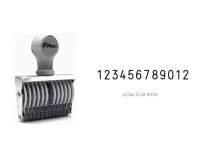 razitko shiny stamp office n 412 cislovaci 4 mm nahled