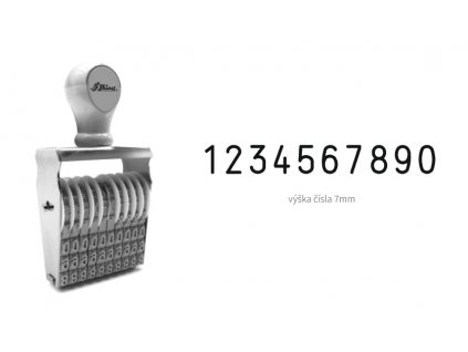 razitko shiny stamp office n 210 cislovaci 7 mm nahled