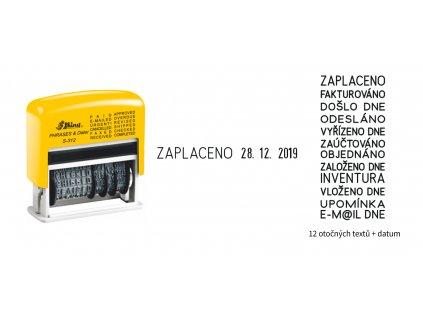 razitko shiny stamp hotove s 312cz zlute text datum nahled