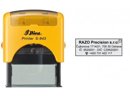 razitko shiny stamp stredni s 843 zlute firemni nahled