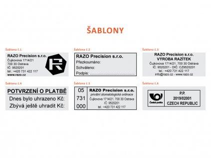 58x22mm sablony razitek