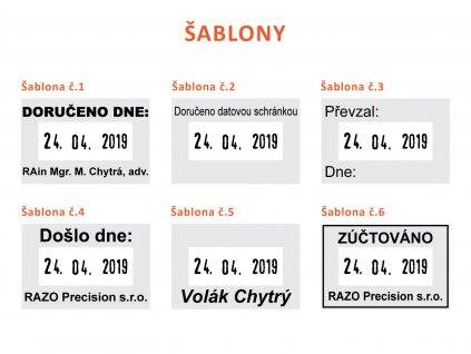 30x20mm sablony datumovych razitek