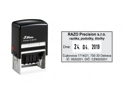 razitko shiny stamp datumove s 827d printer line s textem nahled
