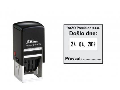 razitko shiny stamp datumove s 530d printer line s textem nahled