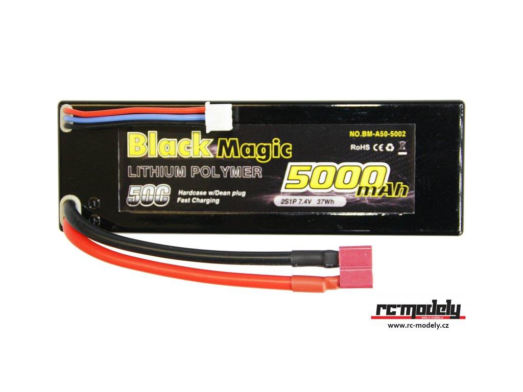 Black Magic LiPol Car 7.4V 5000mAh 50C Deans