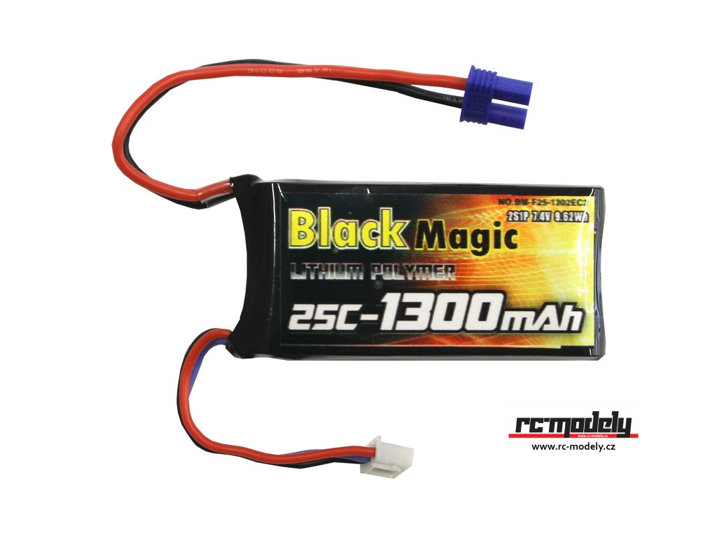 Black Magic LiPol 7.4V 1300mAh 25C EC2