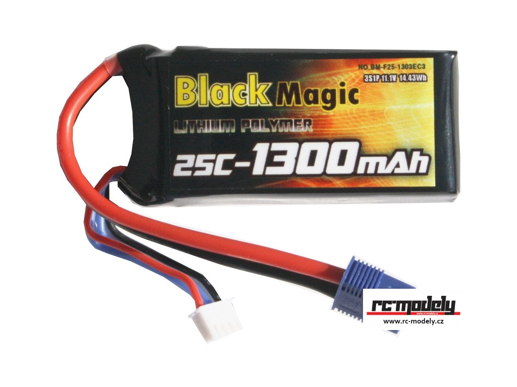 Black Magic LiPol 11.1V 1300mAh 25C EC3