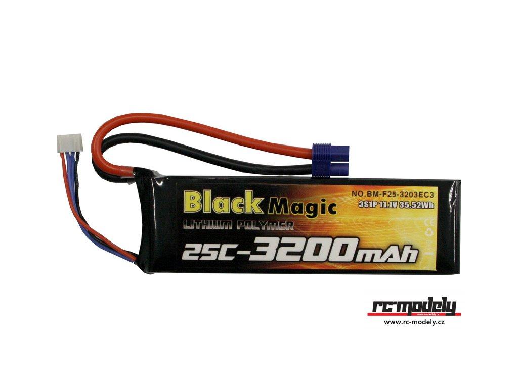 Black Magic LiPol 11.1V 3200mAh 25C EC3