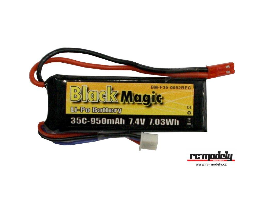 Black Magic LiPol 7.4V 950mAh 35C JST