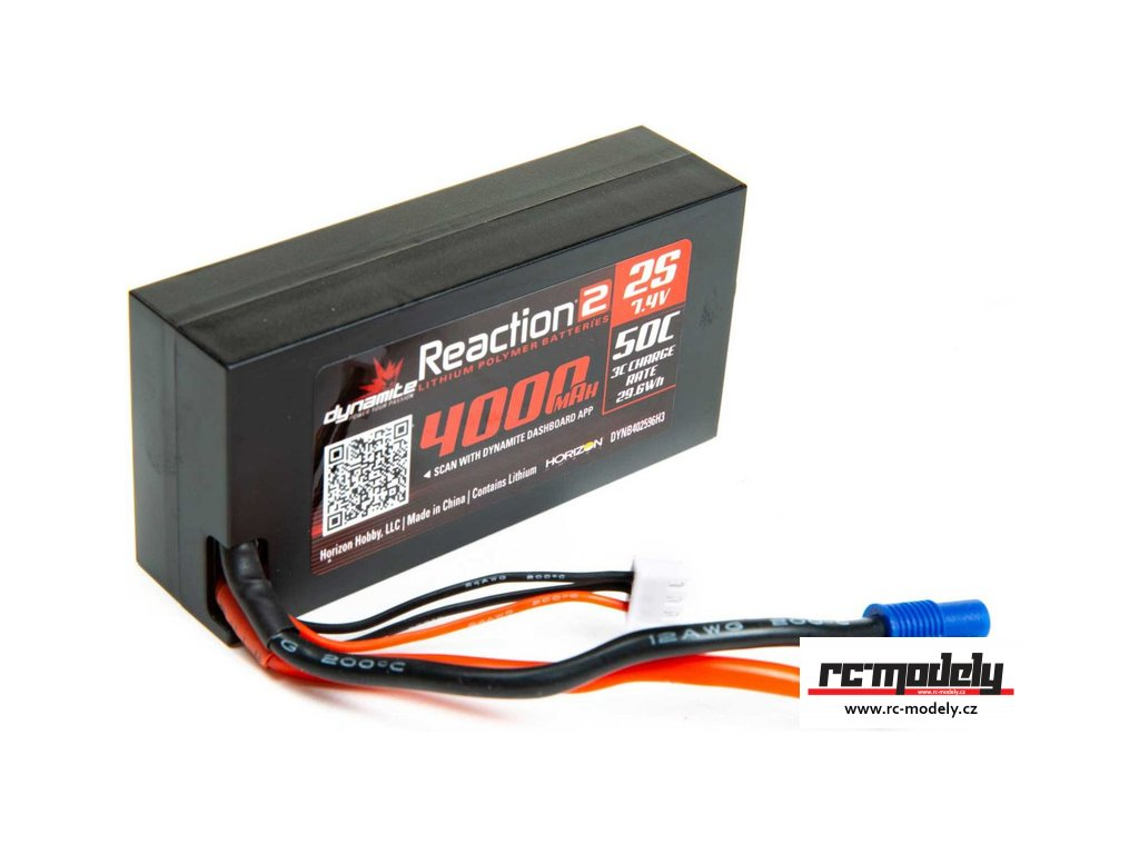 Dynamite LiPo Reaction2 7.4V 4000mAh 50C 96mm EC3